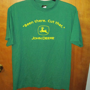 John Deere Been There Cut That Graphic Shirt M